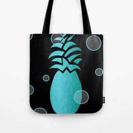 Tropical Blue And Black Tote Bag