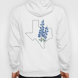 texas // watercolor bluebonnet state flower map Hoody