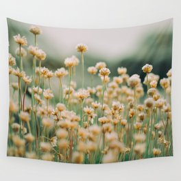 Vintage Chamomile Wildflowers Wall Tapestry