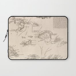 Vintage Map of The Turks and Caicos (1782) Laptop Sleeve