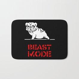 Beast Mode English Bulldog Bath Mat