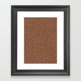 Canvas Dot Line Design Framed Art Print