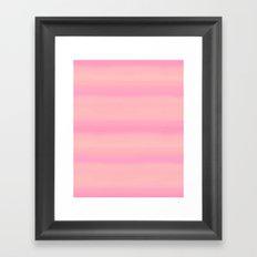 Soft pastel gradient pink tones Framed Art Print