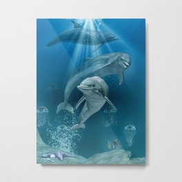 Hello Dolphin Metal Print