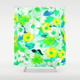 Elegant watercolor floral texture Shower Curtain