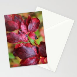 Deep Red Autumn Leaves 2 Stationery Cards
