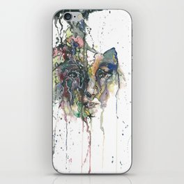 Unravelling With Every Word iPhone Skin