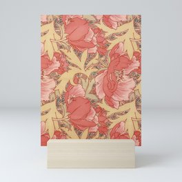 William Morris Poppies Floral Art Nouveau Pattern Mini Art Print
