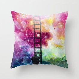 Show me the way out of this darkness Throw Pillow