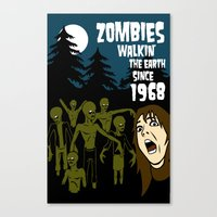 walking dead Canvas Prints featuring Walking Dead by grawiton