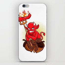 Devil with Hot Chili Pepper Cartoon iPhone Skin