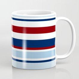 Nautical Stripes - Blue Red White Coffee Mug