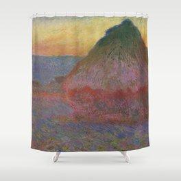 "Claude Monet ""Haystack (Meule)"" Shower Curtain"