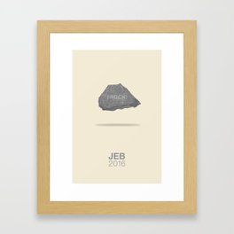 I ROCK! Framed Art Print