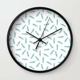 Pillow Fight on White Wall Clock