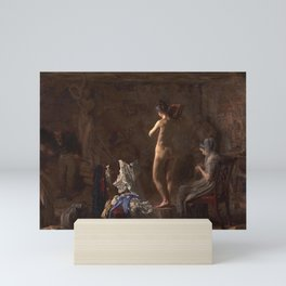 Thomas Eakins - William Rush Carving His Allegorical Figure of the Schuylkill River Mini Art Print