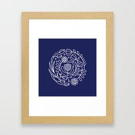 Flower medallion Framed Art Print