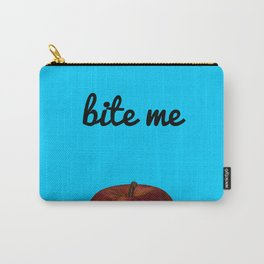 Bite Me - Blue Background Carry-All Pouch