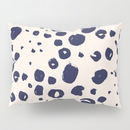 Sketched inked blue dots Pillow Sham