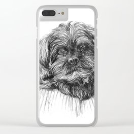 Shih Poo Resting Clear iPhone Case