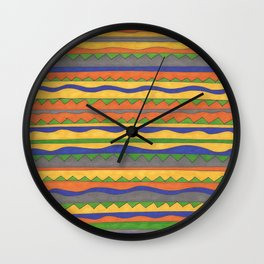 In Bold Color Wall Clock