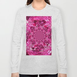 OCTOBER PINK SAPPHIRE FANTASY BIRTHSTONE GEM Long Sleeve T-shirt