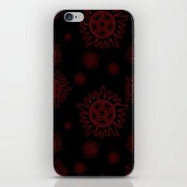 Anti Possession Pattern Red Glow iPhone Skin
