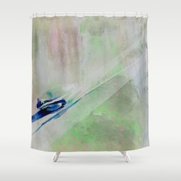Shadow of a Tree Frog Watercolour Shower Curtain