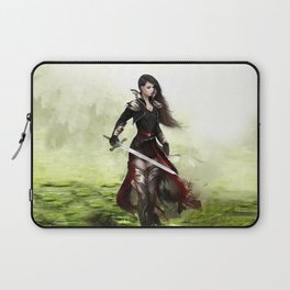 Lady knight - Warrior girl with sword concept art Laptop Sleeve