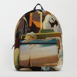 Classical Masterpiece 'A Social History of Indiana' by Thomas Hart Benton Backpack