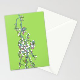 1950s / 1960s Retro Floral Flower Stem Pattern Stationery Cards