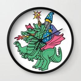 Wizard & Dragon Wall Clock