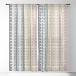 Maude Pattern- Vintage Multicolor Sheer Curtain