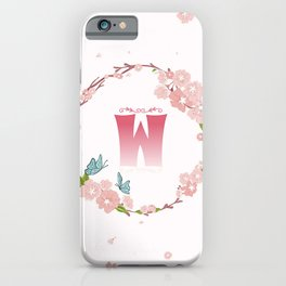 Letter W iPhone Case