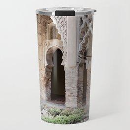Patio Arches - Real Alcazar of Seville Travel Mug