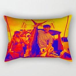 HUGH HEFNER ART POSTER FISHING CAPTAIN COOL Rectangular Pillow