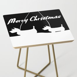 Westie White Christmas Side Table
