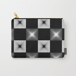 Black And White Illusion Pattern Carry-All Pouch
