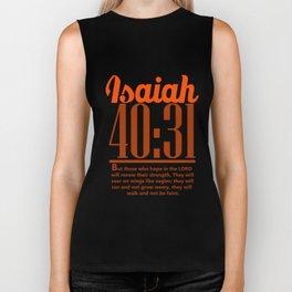 Bible Verse Isaiah 40:31 Christian Quote Biker Tank