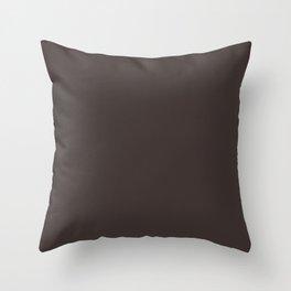 Greater Yellowleg ~ Coffee Brown Throw Pillow