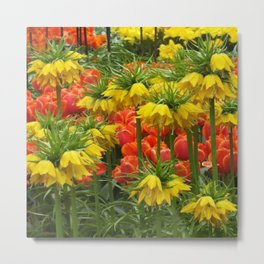 YELLOW CROWN IMPERIAL GREENHOUSE GARDEN Metal Print