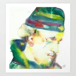 FREDERICK ROLFE - watercolor portrait Art Print