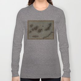 Vintage Map of The Canary Islands (1823) Long Sleeve T-shirt