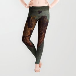 Abstract heart on sparkles Leggings