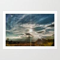 Skypainting Art Print