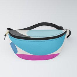 Turquoise & Hot Pink Scoop \\ Abstract Fanny Pack