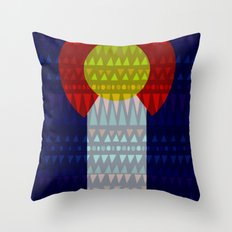 Colorado Flag/Geometric Throw Pillow