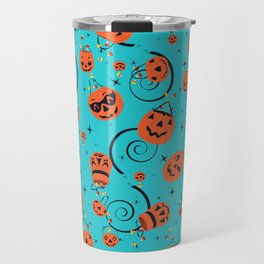 Halloween Magic- Turquoise Travel Mug