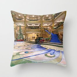 Christmas At Sea Throw Pillow