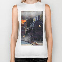 The Rail Yard  -  Steam Train Biker Tank